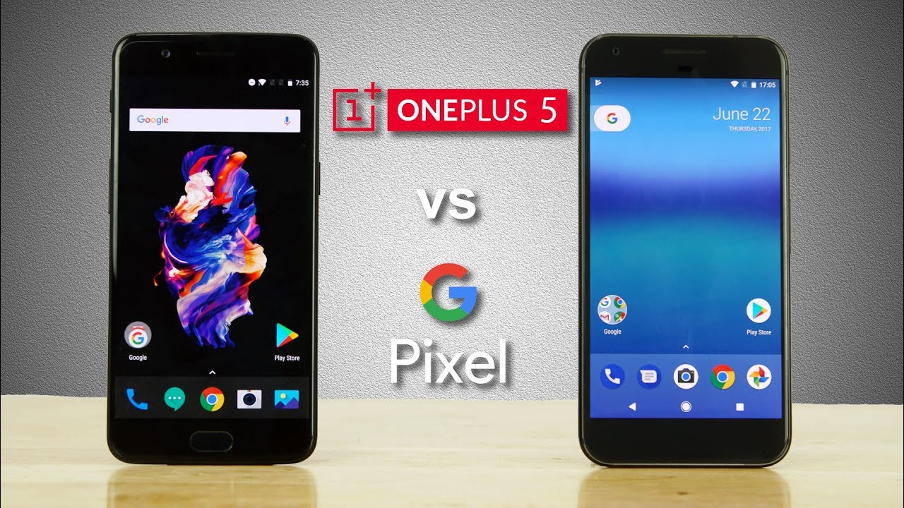 OnePlus 5 vs Google Pixel XL - Speedtest Comparison! - YouTube