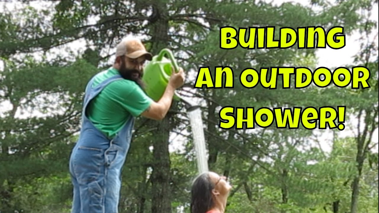 showering-outdoors-a-perk-of-country-living