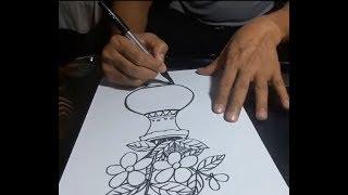 Art & Craft: How to Draw A Flower Vase ফুলদানী অংকন