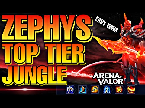 ZEPHYS JUNGLE S TIER GAMEPLAY + BUILD & ENCHANTMENTS   Arena Of Valor / ROV / Liên Quân  