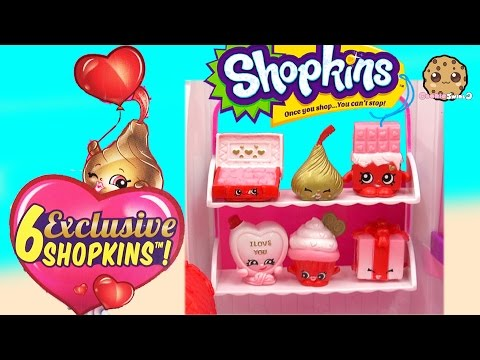 Shopkins Sweet Heart Collection Valentines Day Holiday Set With 6 Exclusives