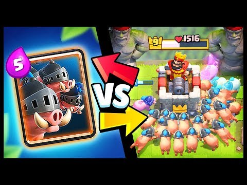 NEW CARD! ROYAL HOGS vs ALL CARDS in Clash Royale | Royal Hogs Gameplay