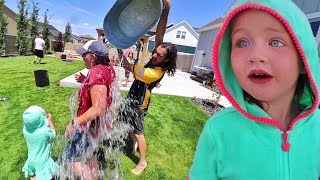 Backyard Water Game Family Water Balloon Battle And Fireworks With Adleys Friend