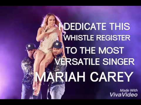 THIS WHISTLE IS FOR MARIAH CAREY !!! [DEDICATED TO YOU ! JUST YOU MARIAH :)]