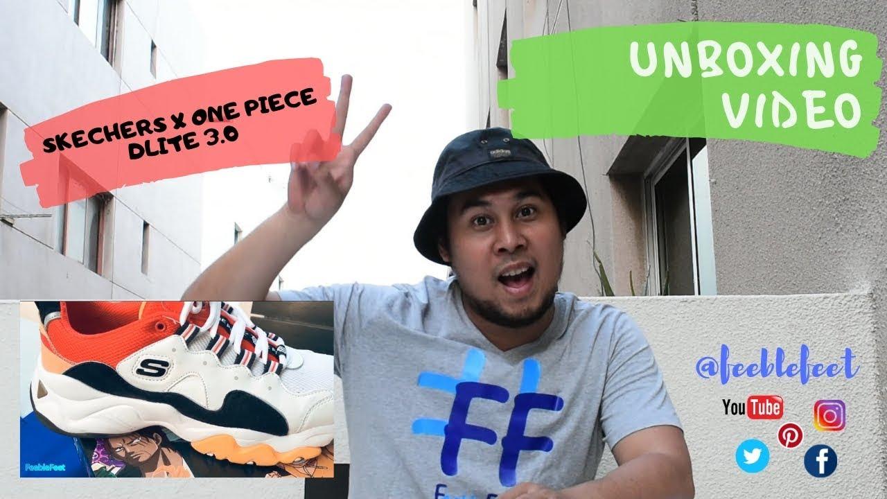 Unboxing my Skechers X One Piece DLite 3.0 shoe