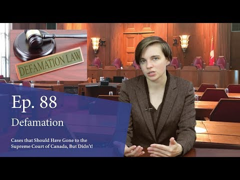 Defamation: Cases That Should Have Gone To The Supreme Court Of Canada, But Didn't!