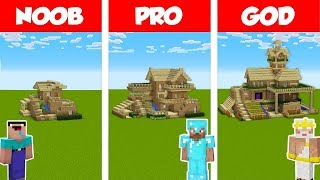 Minecraft NOOB vs PRO vs GOD: SURVIVAL HOUSE BUILD CHALLENGE in Minecraft / Animation