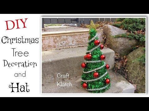 DIY Dollar Store Christmas Tree And Hat Craft - Craft Klatch Christmas Series