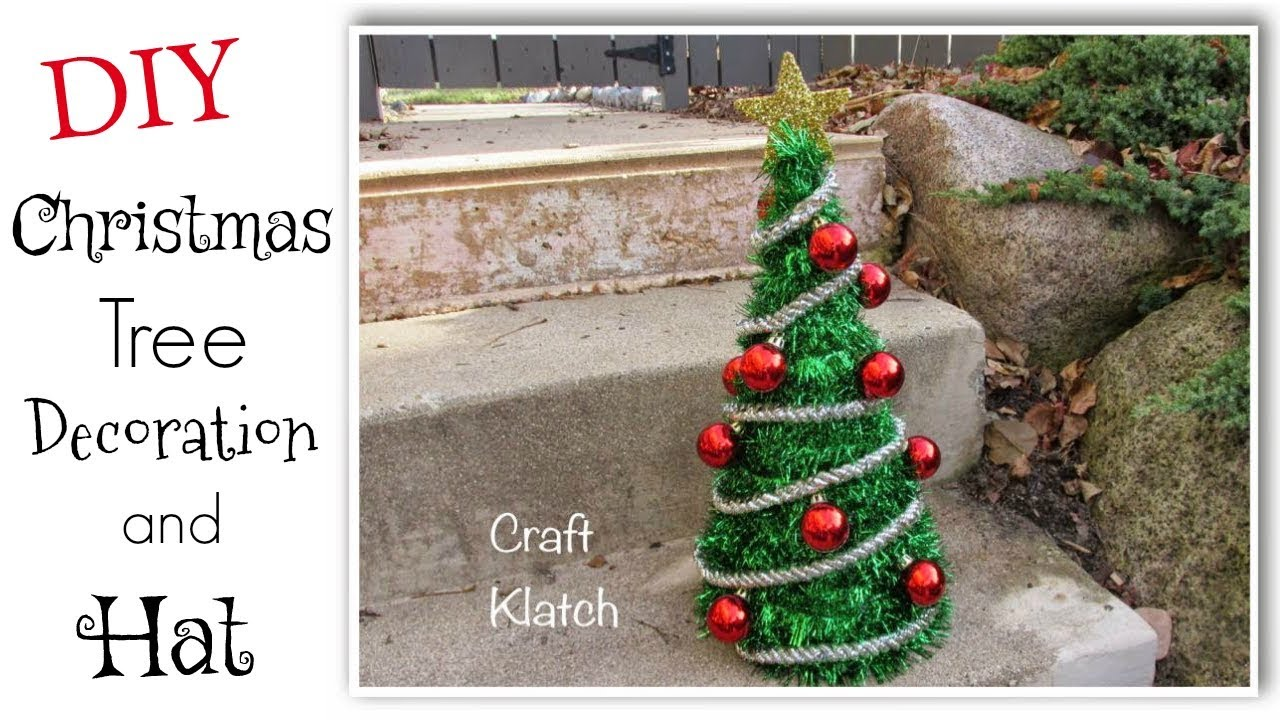 d8525fbfa168d DIY Dollar Store Christmas Tree and Hat Craft - Craft Klatch Christmas  Series