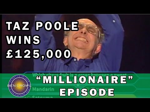 Who Wants to be a Millionaire UK Taz Poole 1/12/2001
