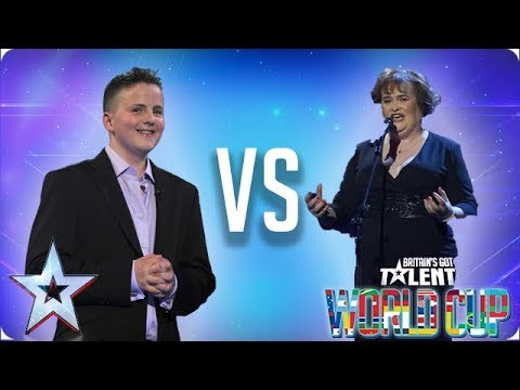 Andrew Johnston vs Susan Boyle | Britain's Got Talent World Cup 2018