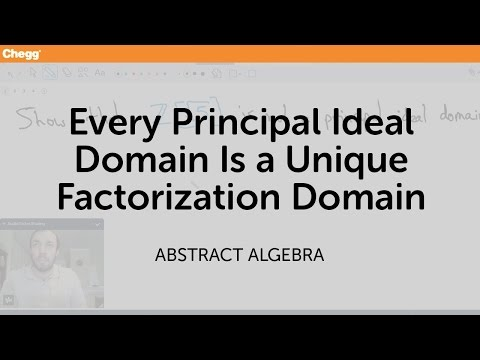 Every principal ideal domain is a unique factorization domain | Calculus | Chegg Tutors