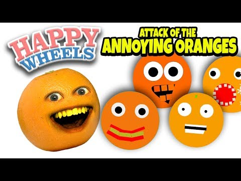 Happy Wheels: Attack of the Annoying Oranges!!! [Annoying Orange Levels]