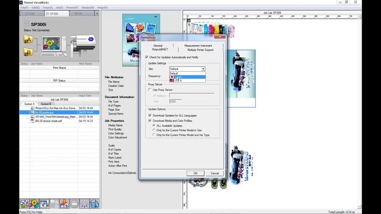 Roland VersaWorks - Updating VersaWorks