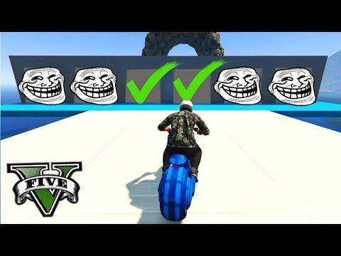 GTA V Online: O CAMINHO MAIS TROLL e IMPOSSÍVEL!!! (MOTO TROLL)