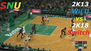 NBA 2K13 (Wii U) VS NBA 2K18 (Switch) Gameplay Comparison