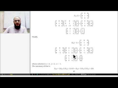 12 Sec. 2.4 Elimination Using Matrices (a)