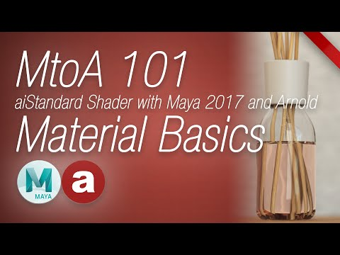 MtoA 101 | aiStandard Material Basics | using Arnold with Maya 2017