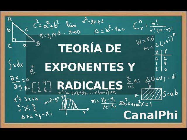 Teoría De Exponentes Y Radicales Youtube
