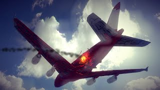 Large Airplanes Shot Down by Guided Missiles #11 Feat. Strengthened Airbus A380 | Besiege