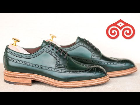 HAND-PAINTED SHELL CORDOVAN · CARMINA SHOEMAKER