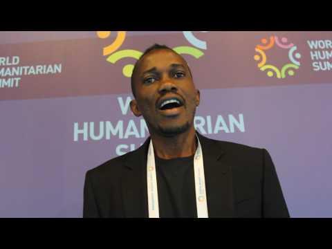 UN Volunteer Abdullai Sheriff at the World Humanitarian Summit