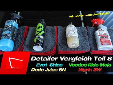 Detailer Vergleich Test #8 Evo1 Ultimate Spray & Shine Nigrin BW Turbo Dodo Juice Supern.Voodoo Ride