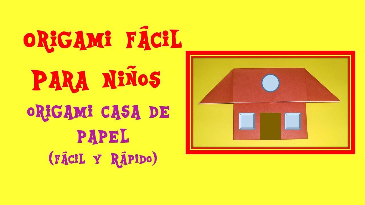 Como hacer una casa de papel origami casita house origami for Como hacer piscicultura en casa