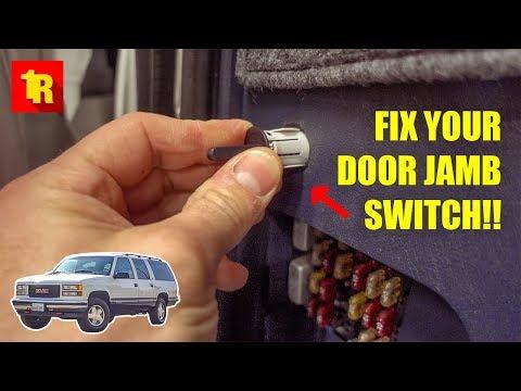 HOW TO FIX 1995-1999 GMC & CHEVROLET DOOR JAMB SWITCH!!