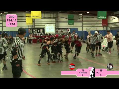 DC Rollergirls v Carolina Rollergirls: 2012 East Region Playoffs