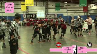 Roller Derby: WFTDA 2012 East Region Playoffs - DC vs Carolina