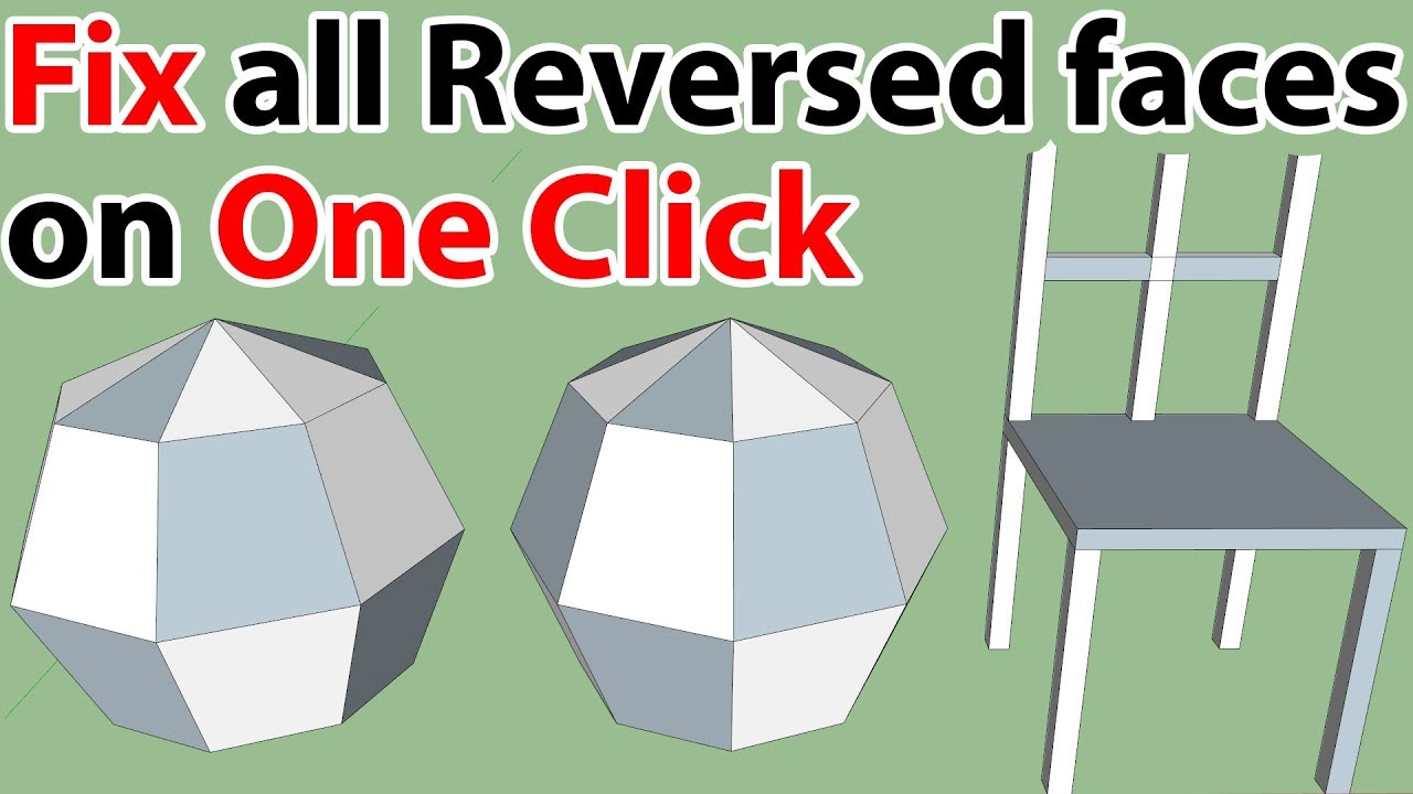 Reversing multiple faces on One Click in SketchUp by TutorialsUp