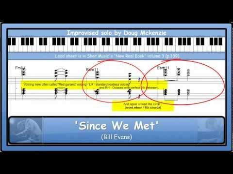 'Since We Met' (Bill Evans) - jazz piano tutorial