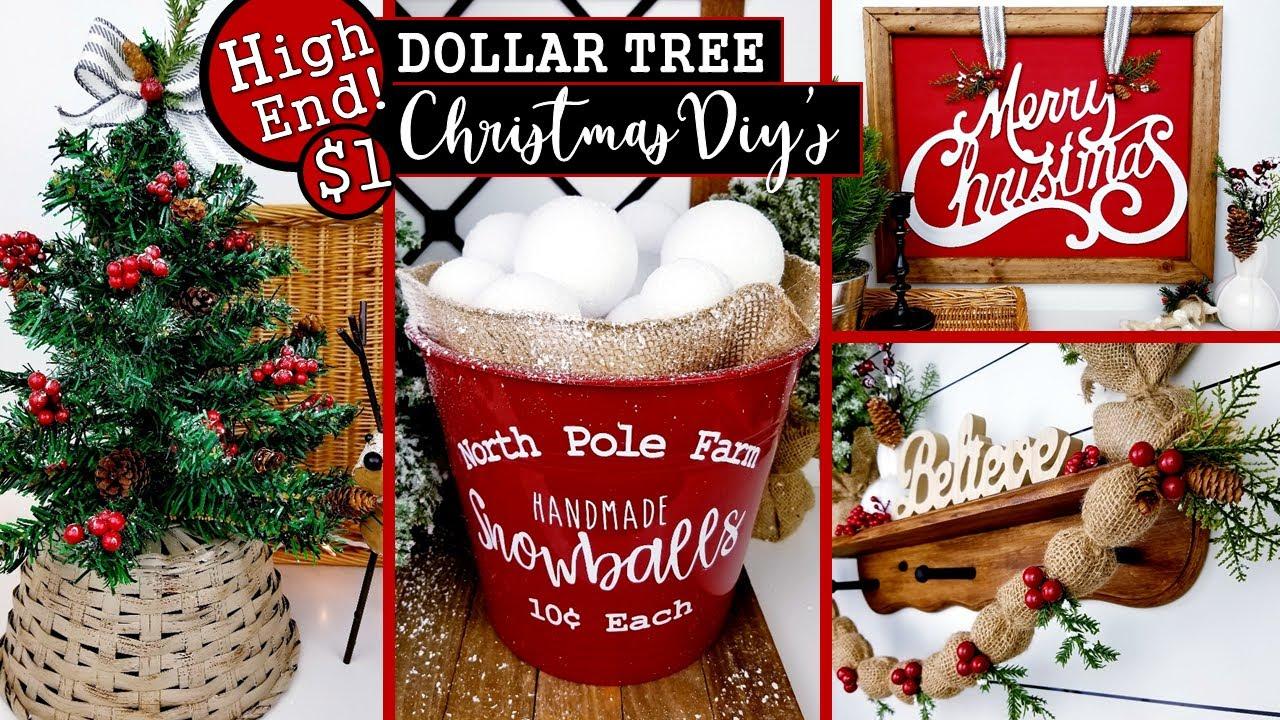 $1 HIGH END DOLLAR TREE CHRISTMAS DIY'S 🎄  CHRISTMAS HOME DECOR IDEAS 2020