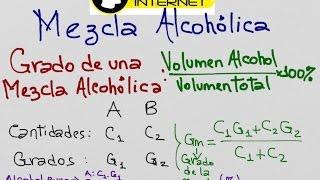 Mezcla Alcohólica, Grado de la mezcla, Promedio Ponderado, Precio de costo