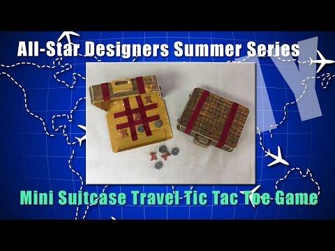 Mini Suitcase Travel Tic Tac Toe Game