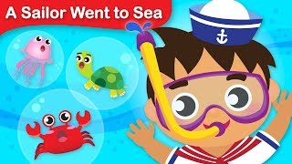 A Sailor Went To Sea | Under the Sea | Turtles, Crabs, Jellyfish | Classic Kids Song by Little Angel