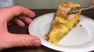 Mom's homemade oowey gooey creampie cake unboxing and food review