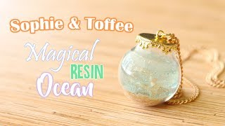 Magical UV Resin Ocean Bottle Tutorial│Sophie & Toffee Subscription Box June 2017