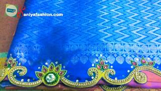 silk saree kuchu in saree tassels/ saree kuch work hand embroidery kuchu using gold beads Embroidery