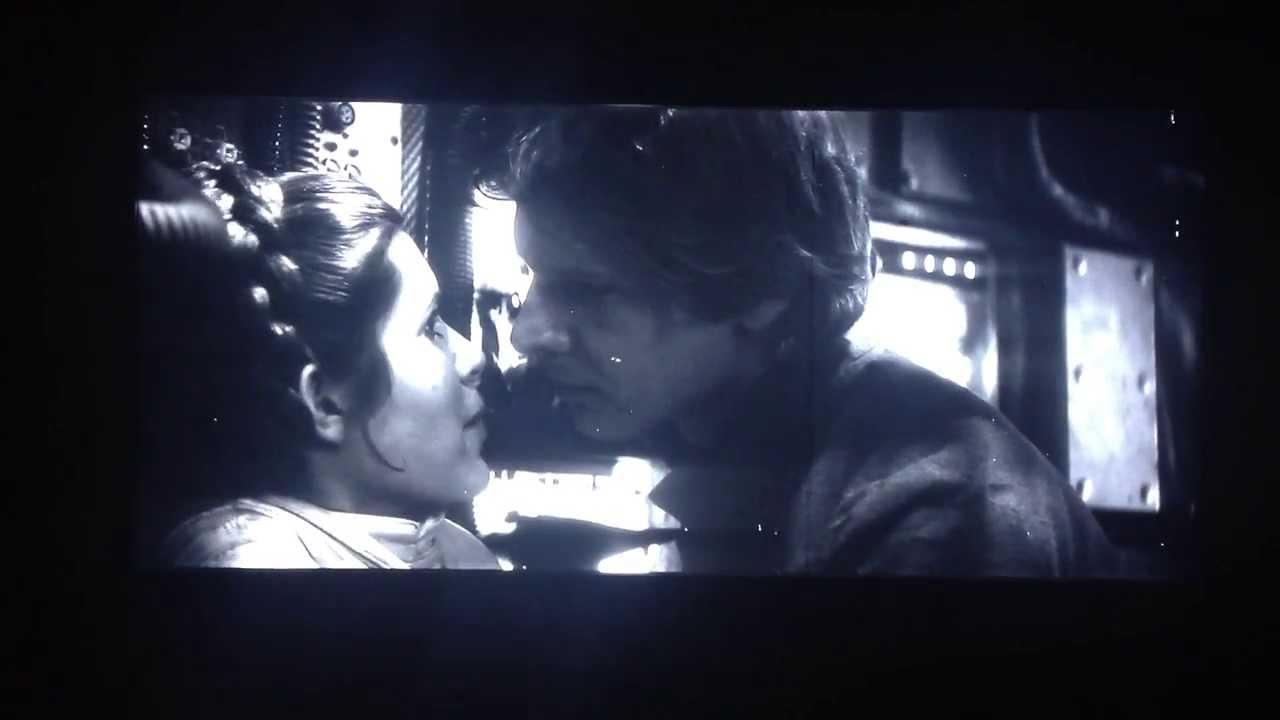 han leia extended kiss scene  empire strikes