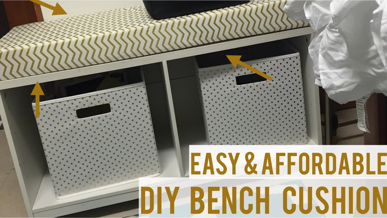 Diy Bench Diy Easy Bench Cushion Under 40 Youtube