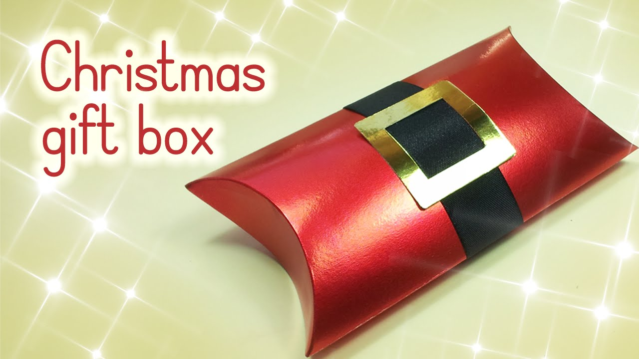 DIY Christmas crafts: Christmas GIFT BOX - Innova Crafts - YouTube