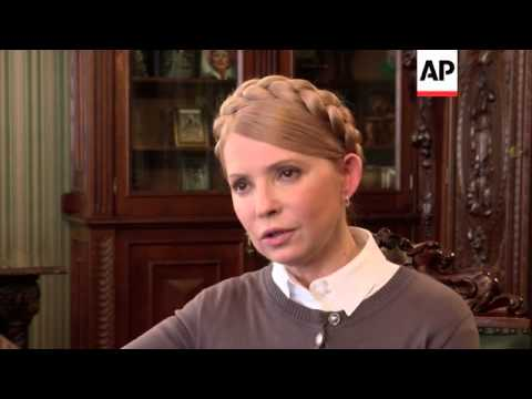 "Tymoshenko says Ukraine ""must be a member of NATO"" to protect itself from Russian aggression"