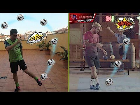¿SUPERARÉ A LIONEL MESSI? | Reto Messi Training Ball