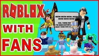 Roblox Dennis Daily Obby Mrs. Samantha with Fans