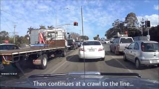 Slow 150m Before Red Light Carseldine 10 Sep 2013