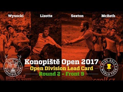 2017 Konopiště Open Lead Card Round 2 Front 9 (Wysocki, Lizotte, Sexton, McBeth)