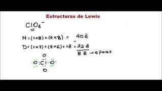 Química General - Estructuras de Lewis - CLO4-