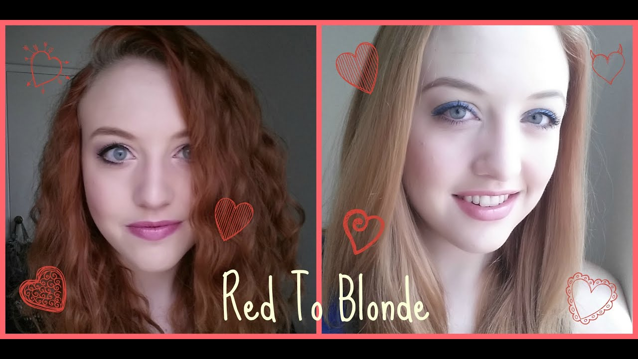 Red to blonde!! Using Color Oops! - YouTube